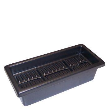 Boîte à étiquettes noire 3 cases