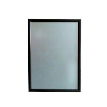 Cadre d'affichage clic clac en aluminium noir format A2