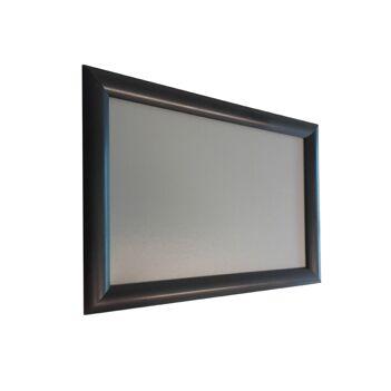 """Cadre d'affichage A4 en aluminium noir avec affiche """"PASS SANITAIRE OBLIGATOIRE"""""""