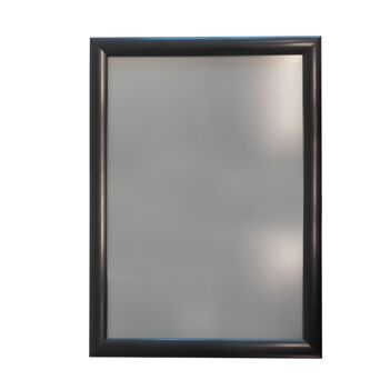 """Cadre d'affichage A3 en aluminium noir avec affiche """"PASS SANITAIRE OBLIGATOIRE"""""""